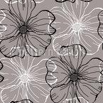 Malven Blüten Nahtloses Vektormuster