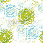Om Green Seamless Vector Pattern Design