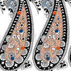 Paisley Beauties Seamless Vector Pattern Design