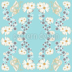 Butterfly And Daisy Seamless Vector Pattern Design