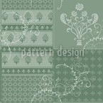 Symphonie Floral Grün Musterdesign