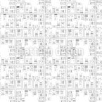 Stadtplan Nahtloses Vektor Muster