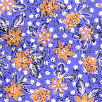Estampado floral tropical Estampado Vectorial Sin Costura