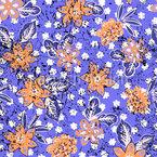 Tropischer Blumen Druck  Nahtloses Vektormuster
