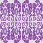 Paisley And Feather Seamless Vector Pattern Design