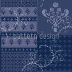 Symphonie Floral Blau Designmuster