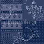 Symphony Floral Blue Design Pattern