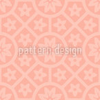 Terracotta Rosetten Nahtloses Vektormuster