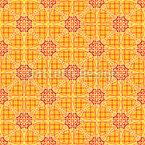 Stern Mosaik Auf Karo Rapportiertes Design