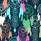 I Am A Dream Catcher Seamless Vector Pattern Design