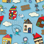 Heavenly Home Seamless Vector Pattern Design
