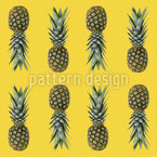 Pineapples From Brazil Seamless Vector Pattern Design