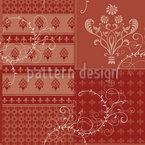 Symphony Floral Red Seamless Pattern