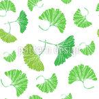 Ginkgo Blätter Nahtloses Vektormuster
