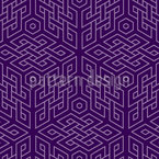 In The Cube Maze Seamless Vector Pattern Design