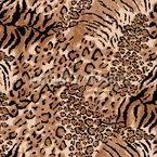 Wildkatzen Nahtloses Vektormuster