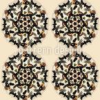 Kleine Blumen Mandalas Rapportmuster