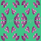 Vertical Fan Seamless Vector Pattern Design