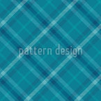 Aqua Tartan Seamless Vector Pattern Design