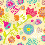 Floral Summer Festival Seamless Pattern