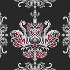 Tribal Damask Seamless Vector Pattern Design