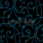 Flourish Cirrus Seamless Vector Pattern Design