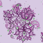 Paisley Bouquet Seamless Vector Pattern Design