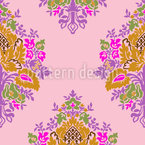 Joyful Damask Seamless Vector Pattern Design