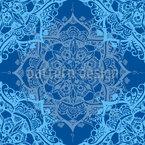 Mandala de Netuno Design de padrão vetorial sem costura