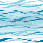 Blue Waves Seamless Vector Pattern Design