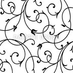 Delicate Flourish Seamless Vector Pattern Design