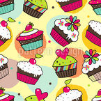 Muffin Träume Nahtloses Vektormuster