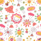 The Flower Song Pattern Design
