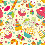 These Sweet Things Seamless Vector Pattern Design