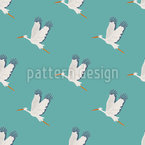 Stork Flight Vector Pattern