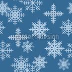 Eiskristalle Blau Nahtloses Vektormuster