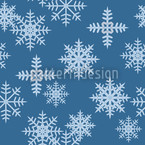 Ice Crystals Blue Seamless Vector Pattern Design