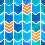 Water Color Zigzag Seamless Vector Pattern Design