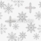 Eiskristalle Weiß Muster Design