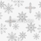 Eiskristalle Weiß Nahtloses Vektormuster