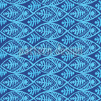 Maori Fish Seamless Vector Pattern Design