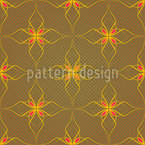 Flowers In Gold Repeat Pattern