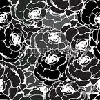 Rosen Seifen Im Dunkeln Nahtloses Vektormuster