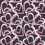 Flourish Heart Seamless Vector Pattern Design