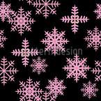 Eiskristalle Schwarz Musterdesign
