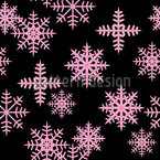 Ice Crystals Black Pattern Design