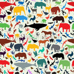 Animal Planet Seamless Vector Pattern Design