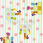 Animal Winner In The Nursery Seamless Pattern