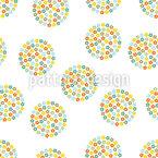 Retro Blumen Kreise Nahtloses Vektor Muster