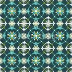 Blumen Mosaik Im Frühling Nahtloses Vektor Muster